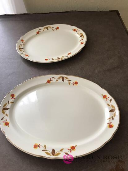 2- Hall Jewel Tea serving platters 11 1/2? and 13 1/2?