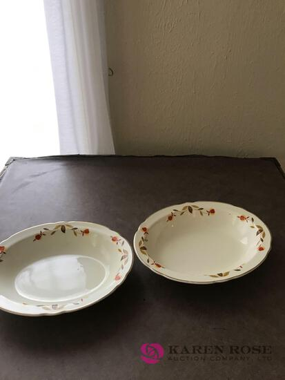 2- Hall Jewel Tea serving bowls 10 1/2