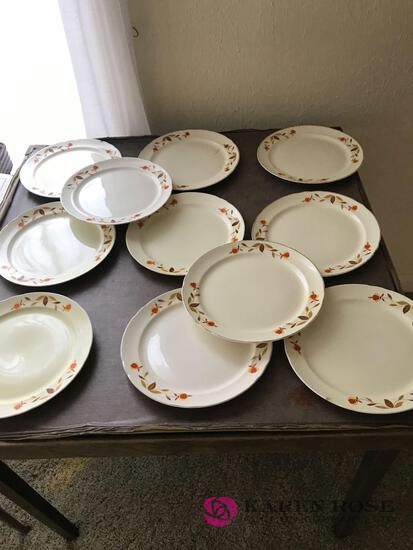 11 9 Halls Jewel Tea plates