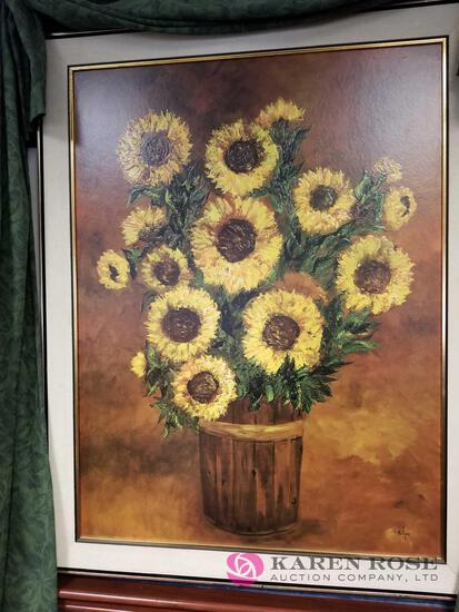 O1 - Sunflower Picture and Coat Stand
