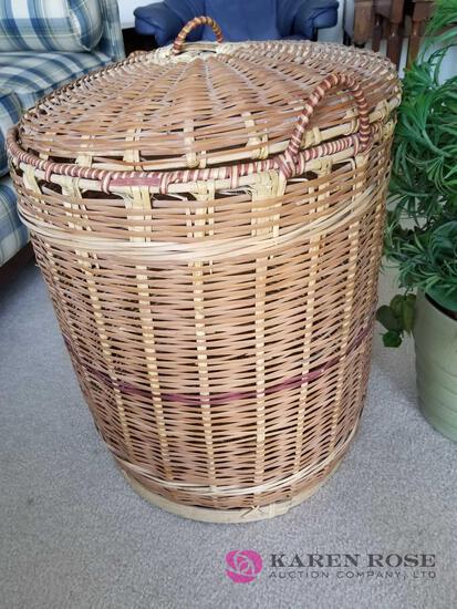 D - Basket and Artificial Plant