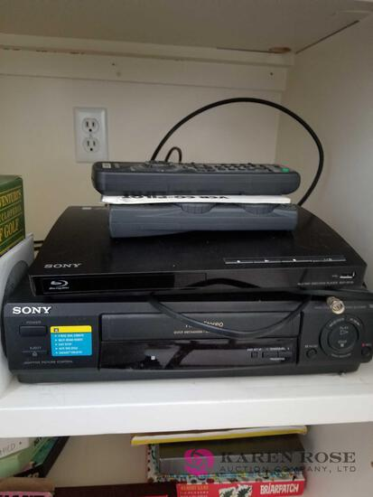 D - Blue Ray, DVD Player, and DVDs