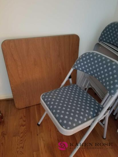 F - Card Table and Chairs