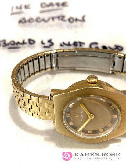 14k Accutrin Ladies watch