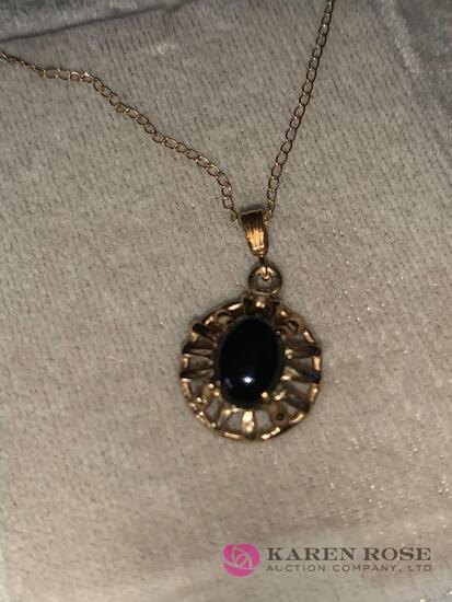 14k Onyx necklaces