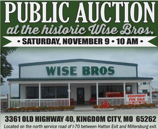 Wise Bros. Consignment Auction Ring 1