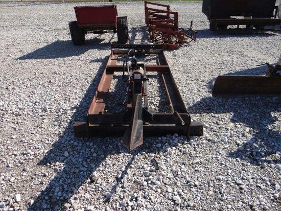 Slide-in hydraulic bale spear
