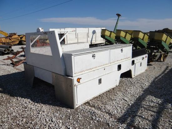 White truck utility bed