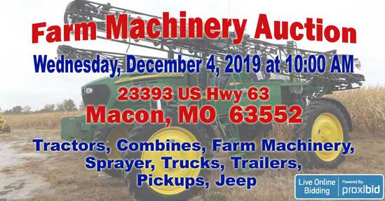 Farm Machinery Auction- Macon, MO