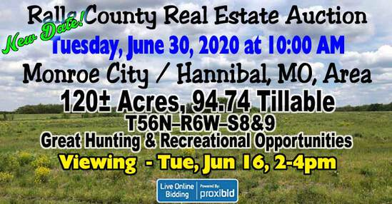 Rothfuss Ralls County Real Estate Auction