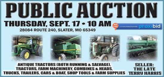 Public Auction- Slater, MO