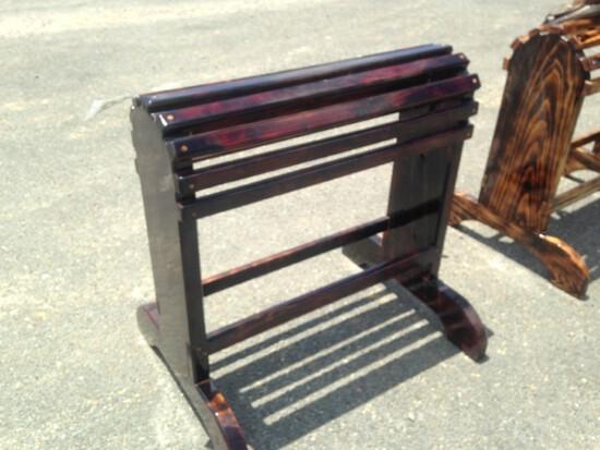 Hand Made Dark Cherry Wood Saddle Stand