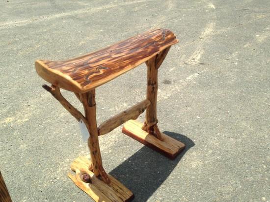 Hand Made Twisted Wood Saddle Stand