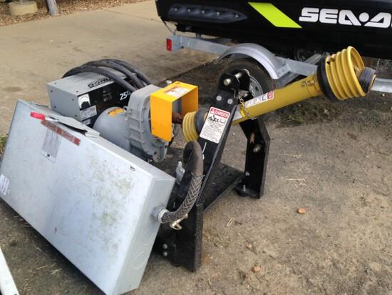 Generator, tractor driven