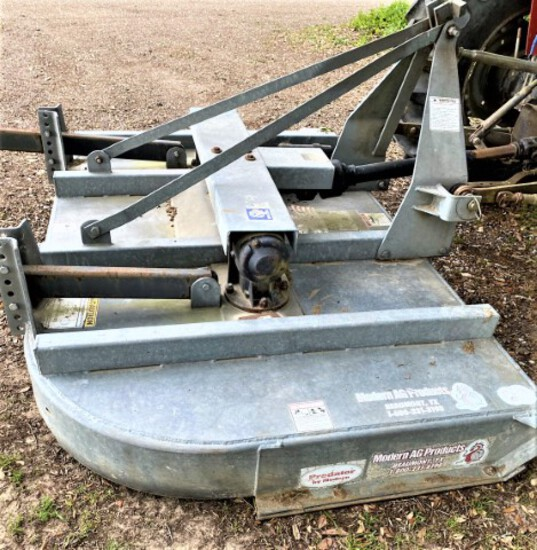 Modern galvanized 8' rotary mower, 3 point hitch