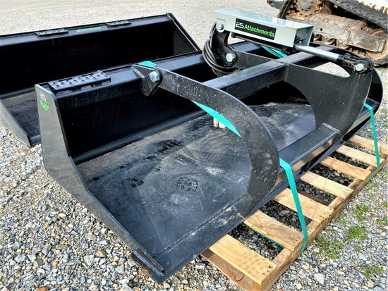 "New Express Steer 66"" grapple bucket"