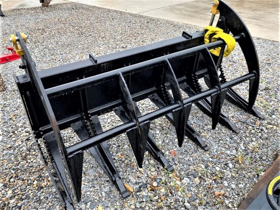 "New AllStar skid steer 66"" root grapple"