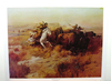 CHARLES M. RUSSELL (After) Indian Buffalo Hunt Print, 23.25'' x 18''