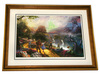 Rare Thomas Kinkade Original Ltd Edt Lithograph Plate Signed Framed 'Dorothy Discovers Emerald City'