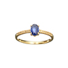 APP: 0.7k Fine Jewelry Designer Sebastian 14KT Gold, 0.66CT Blue Sapphire And Diamond Ring
