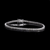 APP: 11.6k *Fine Jewelry 18 kt. White Gold, 5.03CT Round Brilliant Cut Diamond Tennis Bracelet