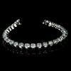 *Fine Jewelry 14 kt. White Gold, Custom Made, 10.00CT Round Brilliant Cut Diamond Bracelet