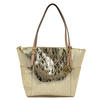 Brand New Michael Kors Jet Set Item NS East West Pale Gold Metallic Tote