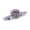 APP: 15k Fine Jewelry *14 kt. Two Tone Gold, 0.55CT Round Cut Diamond And 0.32CT Diamond Ring