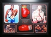 Mike Tyson and Evander Holyfield Collage with Gloves