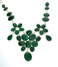 APP: 24k 350.75CT Mixed Cut Green Beryl and Sterling Silver Necklace