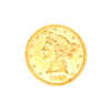 Very Rare 1880 $5 U.S. Liberty Head Gold Coin Great Investment