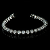 *Fine Jewelry 14 kt. White Gold, Custom Made, 10.00CT Round Brilliant Cut Diamond Bracelet
