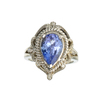 APP: 7.3k 14 kt. White Gold, 2.52CT Diamond And Tanzanite Ring