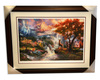 Rare Thomas Kinkade Original Ltd Edt Numbered Lithograph Plate Signed Framed 'Bambi's First Year'