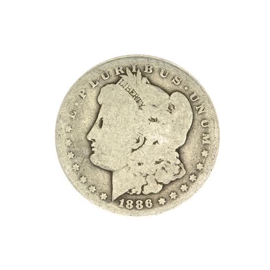1886 U.S. Morgan Silver Dollar Coin
