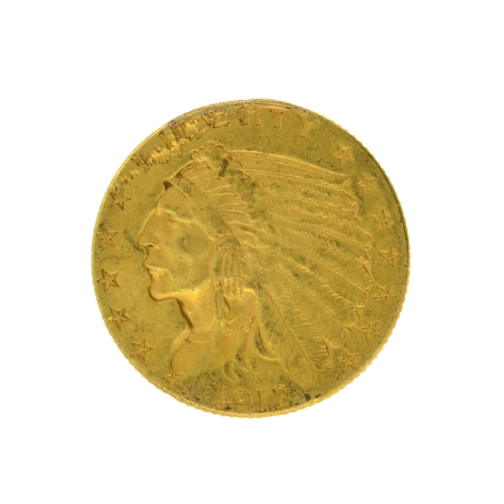 1912 $2.50 Indian Head Gold Coin