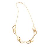*Fine Jewelry 14 KT Gold, Diamond Cut, Oval Link, 9.6GR. 17'' Necklace (GL Neck 2A/2B)