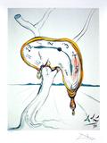 SALVADOR DALI Tearful Soft Watch Lithograph, 247 of 500