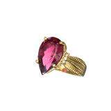 APP: 3.2k Fine Jewelry 14kt. Gold, 5.60CT Fuscia Pink Tourmaline And Diamond Ring