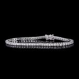 APP: 8.2k *Fine Jewelry 18 kt. White Gold, Custom Made 4.03CT Round Brilliant Cut Diamond Tennis Bra