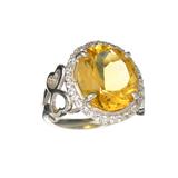 APP: 0.9k Fine Jewelry Designer Sebastian, 7.20CT Citrine And Diamond Sterling Silver Ring