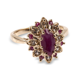 APP: 1.4k 14 kt. Gold, 2.06CT Ruby And White Sapphire With Ruby Accents Ring