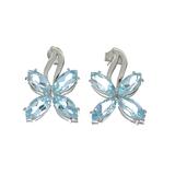 APP: 0.4k 9.08CT Marquise Cut Topaz Sterling Silver Earrings