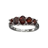 APP: 0.2k Fine Jewelry 1.80CT Alamandite Garnet And Sterling Silver Ring