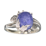 APP: 0.6k Fine Jewelry Designer Sebastian, 3.66CT Tanzanite And White Topaz Sterling Silver Ring