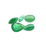 APP: 5.1k 5.09CT Multi Shape Emerald Parcel