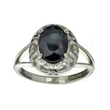 APP: 0.5k Fine Jewelry Designer Sebastian, 1.85CT Blue Sapphire And Sterling Silver Ring