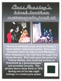 Extremely Rare Elvis Presley Black Biker Jacket Swatch with Certificate
