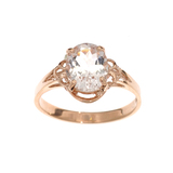 APP: 1.4k Fine Jewelry 14 KT Gold, 1.65CT Oval Cut Morganite Ring