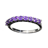APP: 0.4k Fine Jewelry 0.40CT Round Cut Amethyst Quartz And Platinum Over Sterling Silver Ring